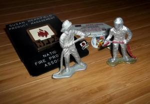 lead fire fighter toys and pins